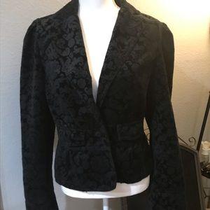🌵Black Loft Velvet Woman's Blazer Sz 12